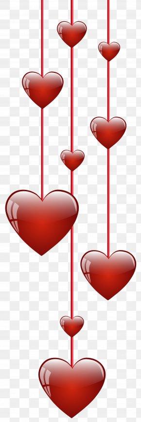 Hanging Hearts Clip Art Image - Heart Clip Art PNG