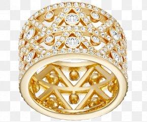 Swarovski Jewelry Gold Ring Width - Earring Swarovski AG Jewellery Ring Size PNG