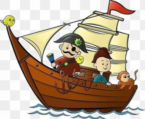 Pirate Ship - Cartoon Piracy Illustration PNG
