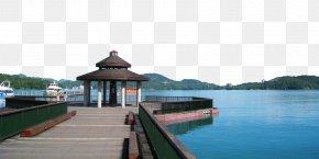 Sun Moon Lake Pier Pavilion - Lalu Island Sun Moon Lake National Scenic Area Shuishe Pier Plaza Alishan National Scenic Area PNG