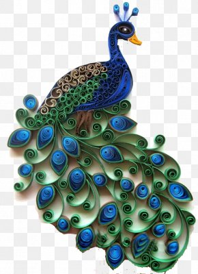 Peacock - Paper Craft Quilling Peafowl PNG
