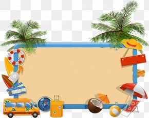 Beach Elements - Summer Vacation Clip Art PNG
