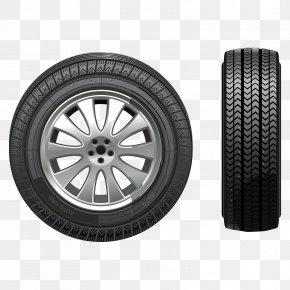 Tires Front And Side View - Car Snow Tire Snow Chains PNG