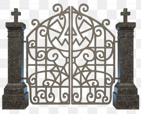 Gate - Cemetery Gate Grave Clip Art PNG