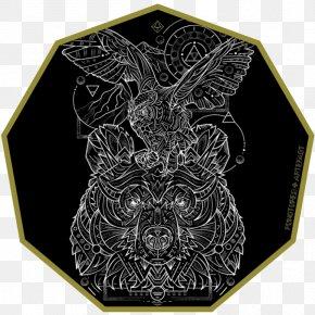 Owl - Great Horned Owl Sacred Geometry Art PNG