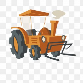 Farm Tractor - Agriculture Farm Cartoon Cattle PNG