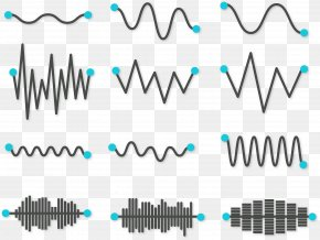 Vector Simple Sound Wave Curve Picture - Sound Wave Vector Euclidean Vector PNG