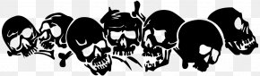 Vinilo - Decal Sticker Human Skull Symbolism Die Cutting PNG