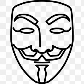 V For Vendetta Guy Fawkes Mask Drawing PNG