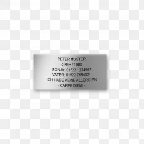Text Plate - Elite Text Typeface Zusammen Font PNG