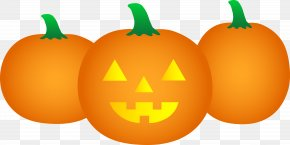 Happy Pumpkin Cliparts - Pumpkin Jack-o-lantern Cartoon Halloween Clip Art PNG
