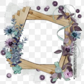 Interior Design Picture Frame - Watercolor Background Frame PNG
