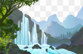 Nature Waterfalls - Jungle Landscape PNG