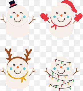 Christmas Cartoon Cute Snowman - Snowman Christmas Clip Art PNG