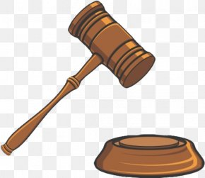 Cartoon Version Of The Auction Hammer - Trial Court Judge Clip Art PNG
