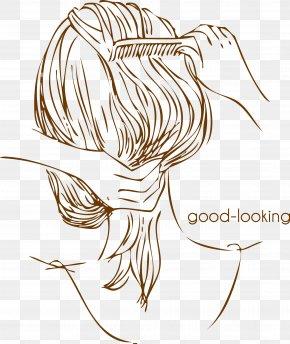 Cartoon Hair Beauty Comb My Hair Back - Comb Capelli Long Hair PNG