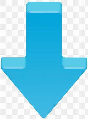 Blue Arrow Down Transparent Clip Art Image - Blue Pattern PNG