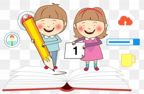 Student Learning - Child Study Skills Clip Art PNG