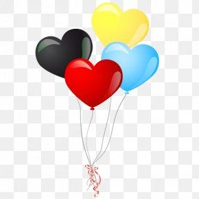 Balon - Balloon Heart Clip Art PNG