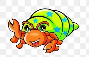 Cartoon Cute Crab Material - Hermit Crab Illustration PNG