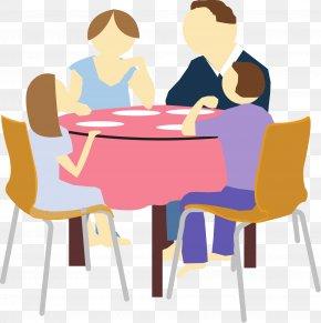 Eating Clipart - Eating Family Dinner Clip Art PNG