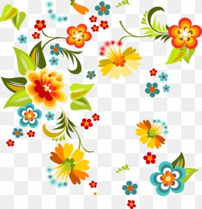 Hand-painted Flowers Texture Border - Floral Design Flower Pattern PNG