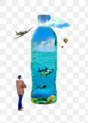 Creative Water Bottle - Water Bottle Mineral Water Bottled Water PNG