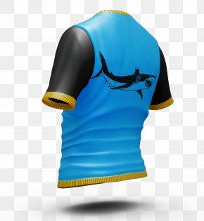 Blue Shark Male Short Sleeve - T-shirt Jersey Sleeve PNG