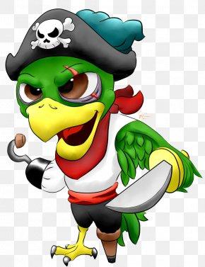 Pirate Parrot Image - Cartoon Clip Art PNG