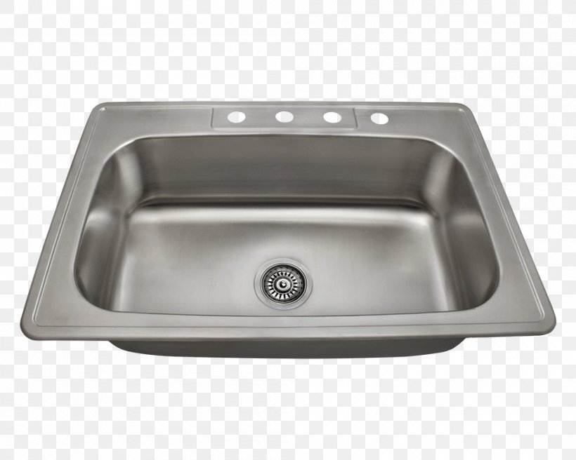 Kitchen Sink Stainless Steel Brushed Metal, PNG, 1000x800px, Sink, Bathroom Sink, Bowl, Bowl Sink, Brushed Metal Download Free