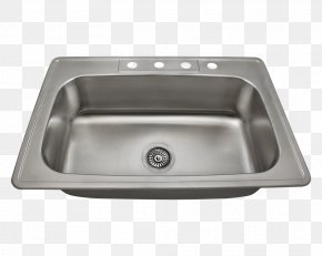 Sink - Kitchen Sink Stainless Steel Brushed Metal PNG