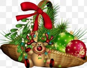 Christmas Gift Basket - Christmas Ornament Christmas Gift PNG