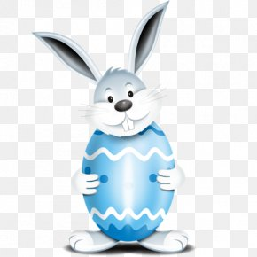 Blue Easter Egg Bunny - Easter Bunny Easter Egg Easter Food PNG