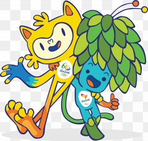 Brazil Rio Olympic Mascot - 2016 Summer Olympics 2016 Summer Paralympics Rio De Janeiro Olympic Sports Vinicius And Tom PNG