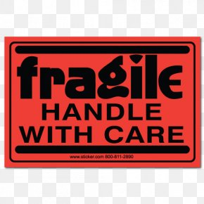 Handle With Care - Label Dispenser Sticker Warning Label Adhesive Label PNG