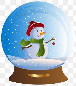 Snowman Snowglobe Transparent Clip Art Image - Snow Globe Snowman Santa Claus Christmas Clip Art PNG