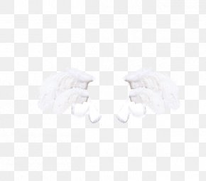 White Wings - White Black Pattern PNG