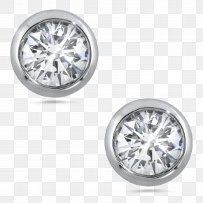 Diamond - Earring Jewellery Diamond Carat Brilliant PNG