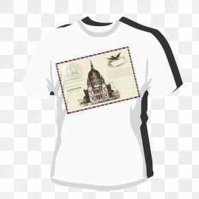 European Wind Pattern T-shirt - T-shirt Sleeve PNG