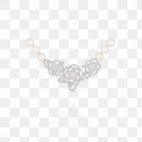 Creative Flowers Pearl Chain - Necklace Jewellery Heart Human Body Pattern PNG