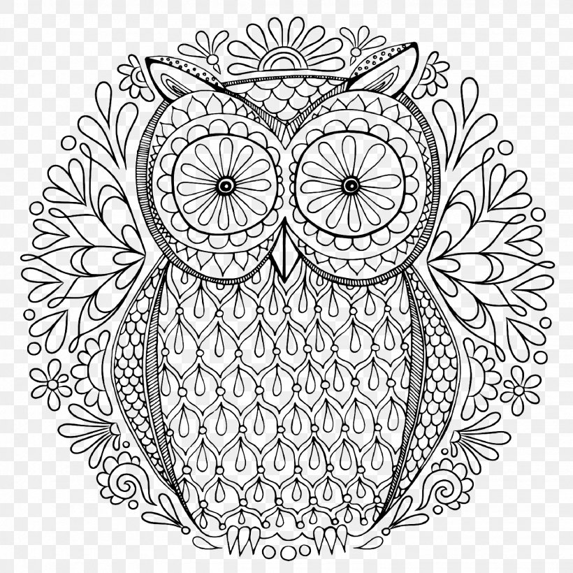 Secret Garden: An Inky Treasure Hunt And Colouring Book Owl Coloring Book  Adult, PNG, 1535x1535px, Owl,