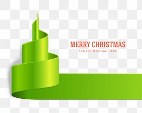 Floating Ribbons - Christmas Tree Ribbon Santa Claus PNG