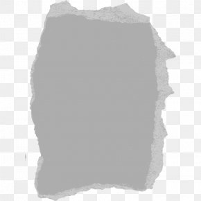 Ripped Paper - White Rectangle Black Pattern PNG