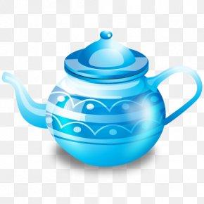 Blue Kettle - Teapot Icon PNG