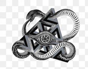 Aztec Ouroboros - Art Silver Detroit Lions Akismet Rorschach PNG