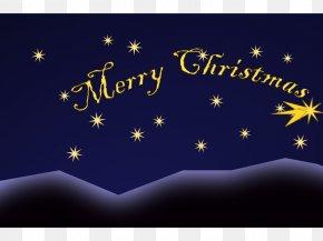 Christmas - Desktop Wallpaper Christmas Computer Star Font PNG