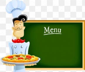 Chef With Menu - Chef Cartoon Pizza PNG