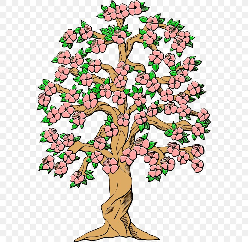 Tree Cherry Blossom Spring Clip Art, PNG, 575x800px, Tree, Art, Blossom, Branch, Cartoon Download Free