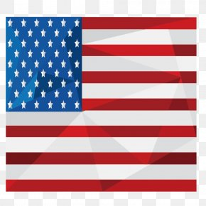 Flat American Flag - Flag Of The United States PNG