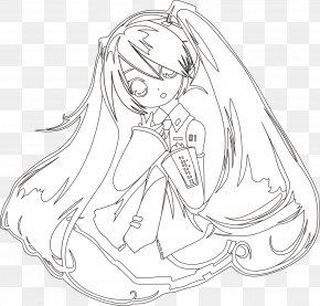 Hatsune Miku - Line Art Hatsune Miku Drawing KIII PNG